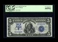 Large Size:Silver Certificates, Fr. 274 $5 1899 Silver Certificate Star Note PCGS Very Choice New64PPQ. This is a sharp looking star that we have sold twic...