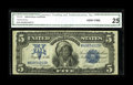 Large Size:Silver Certificates, Fr. 278 $5 1899 Silver Certificate CGA Very Fine 25. This certified note appears to retain much of its original crispness....