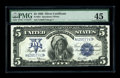 Large Size:Silver Certificates, Fr. 281 $5 1899 Silver Certificate PMG Choice Extremely Fine 45. Cut quite tightly all across the bottom, but in other respe...