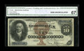 Large Size:Silver Certificates, Fr. 288 $10 1880 Silver Certificate CGA Gem Uncirculated 67. This$10 is from the run that has supplied all of the really ni...