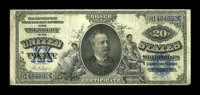Fr. 321 $20 1891 Silver Certificate Fine. Nice edges and paper for the grade save for a couple of small black ink dots o...