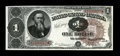 Fr. 347 $1 1890 Treasury Note Very Choice New. If the top face margin were just a hair broader, this Stanton Ace would b...