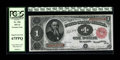 Large Size:Treasury Notes, Fr. 352 $1 1891 Treasury Note PCGS Superb Gem New 67PPQ. A great note with its embossing, natural paper wave, white paper, a...