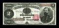 """Large Size:Treasury Notes, Fr. 357 $2 1891 Treasury Note Courtesy Autograph Gem New. From our FUN 2005 auction where it was described, """"The last of the..."""