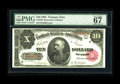 Large Size:Treasury Notes, Fr. 369 $10 1891 Treasury Note PMG Superb Gem Unc 67 EPQ. We sold this note in our 1995 Memphis auction for $2,700. It comes...
