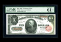Large Size:Treasury Notes, Fr. 369 $10 1891 Treasury Note PMG Net Uncirculated 61. This note was viewed prior to encapsulation and it looked as though ...