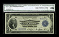 Fr. 711 $1 1918 Federal Reserve Bank Note CGA Gem Uncirculated 66. Beautifully centered on both sides, with bright color...