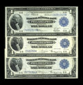 Fr. 714, Fr. 715, Fr. 717 $1 1918 Federal Reserve Bank Notes Three examples. This trio grades VF-XF with bright colors a...