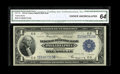 Fr. 715 $1 1918 Federal Reserve Bank Note CGA Choice Uncirculated 64. A nice Philadelphia Ace with attractive centering...
