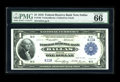 Fr. 740 $1 1918 Federal Reserve Bank Note PMG Gem Uncirculated 66 EPQ. This well preserved Dallas Ace has a double deuce...