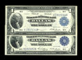 Fr. 740, Fr. 742 $1 1918 Federal Reserve Bank Notes Two Examples Here is a pleasing pair of Dallas $1 notes that are cri...