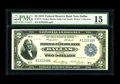 Fr. 776 $2 1918 Federal Reserve Bank Note PMG Choice Fine 15. This Battleship which hails from a tougher district for th...