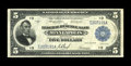 Large Size:Federal Reserve Bank Notes, Fr. 799 $5 1918 Federal Reserve Bank Note Fine. This colorful example has a touch of flatness....