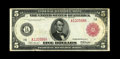 Fr. 832a $5 1914 Red Seal Federal Reserve Note Very Fine+. A scarcer number, with fewer than 25 examples known of this &...
