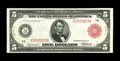Fr. 832b $5 1914 Red Seal Federal Reserve Note Very Fine-Extremely Fine. The eye appeal is great on this Boston Red Seal...