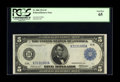 Large Size:Federal Reserve Notes, Fr. 884 $5 1914 Federal Reserve Note PCGS Gem New 65. Only nine of the twenty one surviving examples have been offered for s...