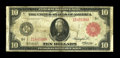 """Large Size:Federal Reserve Notes, Fr. 900b $10 1914 Red Seal Federal Reserve Note Fine. Only about three dozen of the Fr. 900 are known, with the """"a"""" variety ..."""