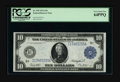 Large Size:Federal Reserve Notes, Fr. 939 $10 1914 Federal Reserve Note PCGS Very Choice New 64PPQ. One of the more common Fed $10s and a nice example for the...
