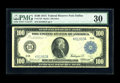 Large Size:Federal Reserve Notes, Fr. 1124 $100 1914 Federal Reserve Note PMG Very Fine 30. Dallas is a very scarce District for Hundred Dollar Feds, and even...