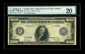 Fr. 1133-F $1000 1918 Federal Reserve Note PMG Very Fine 20. Atlanta is one of the tougher Districts for high denominati...