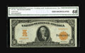 Fr. 1167 $10 1907 Gold Certificate CGA Gem Uncirculated 68. The top to bottom and right to left centering couldn't be of...