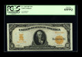 Large Size:Gold Certificates, Fr. 1168 $10 1907 Gold Certificate PCGS Gem New 65PPQ. The originalembossing is pronounced enough to be seen through the PC...