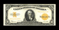 Fr. 1173 $10 1922 Mule Gold Certificate Extremely Fine-About New. There is a horizontal bend and some folds including on...
