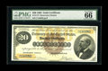 Large Size:Gold Certificates, Fr. 1177 $20 1882 Gold Certificate PMG Gem Uncirculated 66 EPQ. One of only two available CU examples with the other permane...