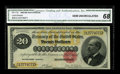 Large Size:Gold Certificates, Fr. 1178 $20 1882 Gold Certificate CGA Gem Uncirculated 68. Scrutinization of this note will reveal little more than blazing...