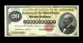 Large Size:Gold Certificates, Fr. 1178 $20 1882 Gold Certificate Extremely Fine-About New. ThisGold Certificate has all the look of a full Gem note, thou...