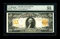 Large Size:Gold Certificates, Fr. 1183 $20 1906 Gold Certificate PMG About Uncirculated 55. Wellbalanced margins and eye popping color are the hallmarks ...