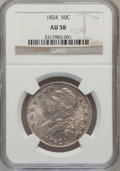 Bust Half Dollars: , 1824 50C AU58 NGC. NGC Census: (176/242). PCGS Population(109/167). Mintage: 3,504,954. Numismedia Wsl. Price for problem...