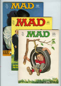 Magazines:Mad, Mad #134 and 136-176 Group (EC, 1970-75) Condition: Average VG....