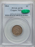 1864 1C Copper-Nickel AU50 PCGS. CAC. PCGS Population (26/1375). NGC Census: (4/1046). Mintage: 13,740,000. Numismedia W...