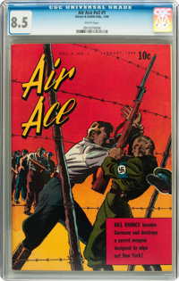 Air Ace V2#1 (Street & Smith, 1944) CGC VF+ 8.5 White pages