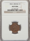 1864 1C L On Ribbon AU55 Brown NGC. NGC Census: (56/357). PCGS Population (70/239). Mintage: 39,233,712. Numismedia Wsl...