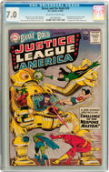 Silver Age (1956-1969):Superhero, The Brave and the Bold #29 Justice League of America (DC, 1960) CGC FN/VF 7.0 Off-white to white pages....