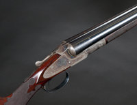 12 gauge L.C. Smith A2 Grade Double Barrel Shotgun with English Style Engraving
