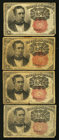 Fractional Currency:Fifth Issue, Fr. 1265 10¢ Fifth Issue. Fr. 1265 10¢ Fifth Issue Three Examples..... (Total: 4 notes)