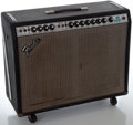 Musical Instruments:Amplifiers, PA, & Effects, 1970's Fender Twin Reverb Reissue Silverface Guitar Amplifier,Serial Number #A956350....