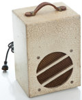 Musical Instruments:Amplifiers, PA, & Effects, 1940's Epitone Crinkle White Guitar Amplifier, Serial Number #None....
