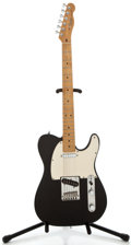 Musical Instruments:Electric Guitars, 1988 Fender Telecaster Black Solid Body Electric Guitar, SerialNumber #E800351....