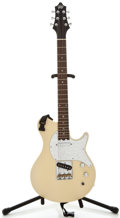 Musical Instruments:Electric Guitars, Gadow White Solid Body Electric Guitar, Serial Number #0610003....