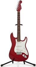 Musical Instruments:Electric Guitars, 1995 Fender Stratocaster Candy Apple Red Solid Body ElectricGuitar, Serial Number #N594364....