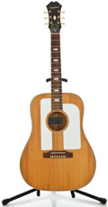 Musical Instruments:Acoustic Guitars, 1966 Epiphone Troubadour Natural Acoustic Guitar, Serial Number#404506....
