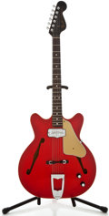 Musical Instruments:Electric Guitars, 1966 Fender Coronado II Red Semi-Hollow Body Electric Guitar,Serial Number #177530....