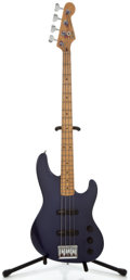 Musical Instruments:Bass Guitars, 1990 Fender Jazz Bass Dark Purple Metallic Electric Bass Guitar, Serial Number #N001948....