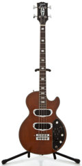 Musical Instruments:Bass Guitars, 1970'S Gibson Les Paul Mahogany Electric Bass Guitar, Serial Number #624083....