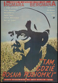 "Movie Posters:Drama, Wild Strawberries (Pol Film, R-1980). Polish One Sheet (26.5"" X37.5""). Drama.. ..."