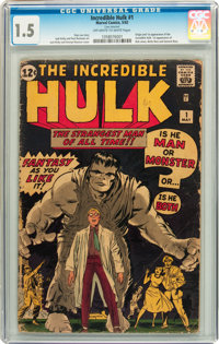 The Incredible Hulk #1 (Marvel, 1962) CGC FR/GD 1.5 Off-white to white pages